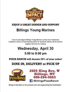 Billings Young Marines Fundraiser