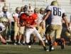 Levi Beck of Senior catches a pass