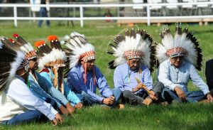 Crow leaders mark treaty of 1851 Fort Laramie Treaty