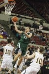 Daniel Meyer of Billings Central drives to the basket