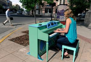 Billings' newest piece of public art is piano under Skypoint downtown