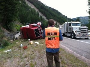 Semi crash pours industrial soap into Blackfoot River