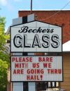 Beckers Glass sign