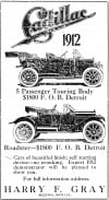 Cadillac ad from 1911
