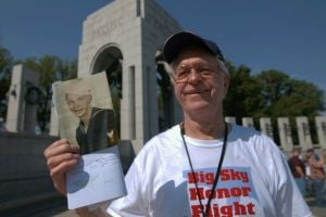 'In a war, no one ever wins': Memories, grief at WWII Memorial