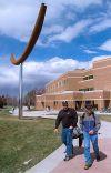 """Gary Bates' 2002 sculpture, """"Wind Arc"""""""