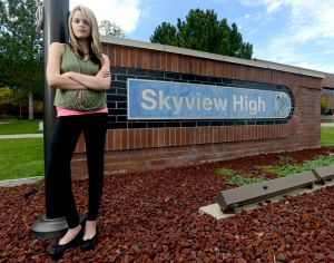 Student fighting Skyview yoga pants policy