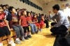 Lame Deer students perform with members of the Silk Road Ensemble Sunday at YAM