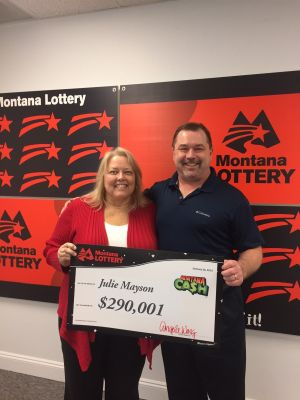 Butte woman claims $290K Montana Cash jackpot