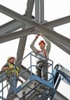 Scheels celebrates completion of steel framing at new store