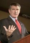U.S. Senate Candidate Denny Rehberg speaks
