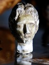 A closeup of David Orser's sculpture