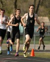 Mark Hovland of Billings West leads a pack of runners