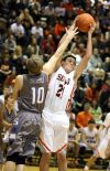 Nickos Vlahos of Senior grabs an offensive rebound
