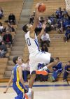 Kendal Manuel goes up for a layup