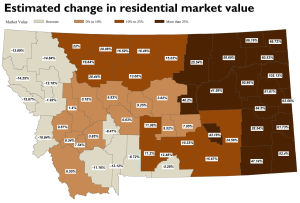 Department: Value of Montana residential properties fall by 2.85 percent