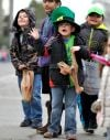 Kids enjoy the St. Patrick's Day Parade