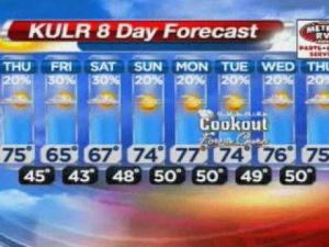 No hail expected, but rain possible