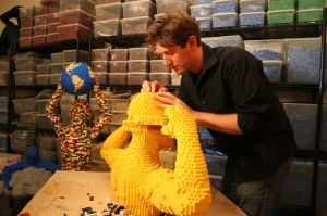 LEGO exhibit captures human emotions sculpted in plastic bricks