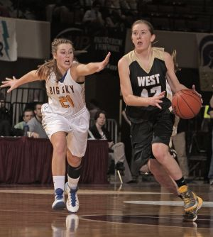 West girls dominate Big Sky to reach State AA semifinals