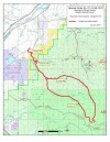 Map of trails closed by the Emigrant fire