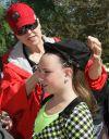 Lynda McCleary helps Hayley Tate