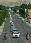 Maxwell funeral procession