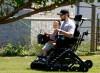 Bo Reichenbach rides in his new Action Trackchair