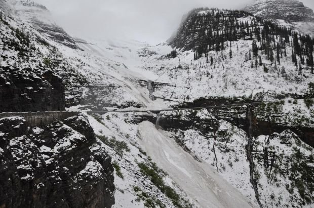 Heavy snow in Glacier Park limits access to some roads, trails