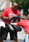 Kids, NFL stars have fun at Edwards' camp