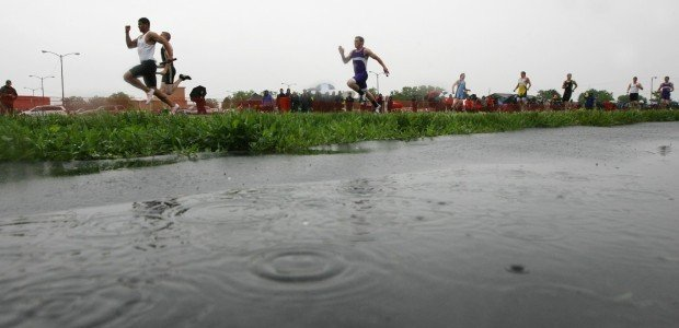 Rain at Eastern AA divisional track meet