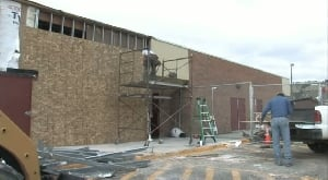 Crews work to repair Arrowhead School