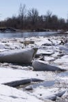 Ice jam on the Little Bighorn River