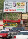 Natural Grocers billboard on Grand
