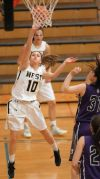 West's Delaney Clement, 10 puts up a shot