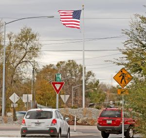 Flag on roundabout is appreciated