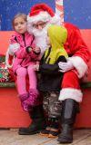 Avery and Kyle Kline visit Santa