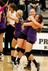 Tonni Canzona and Sarah Strauser celebrate