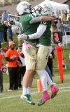 Bryce Baker celebrates a touchdown