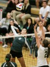 Mariah Stiffarm of Rocky Mountain College records a kill