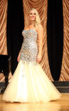 Allyson Peterson competes in the evening gown section