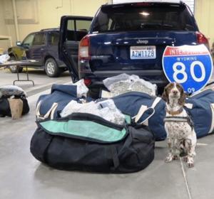 I-80 operation nets arrests, seizure of 250 pounds of marijuana
