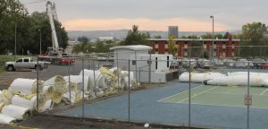 Tennis dome comes down at MSUB