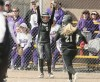 Taylor Ostwald (6) and Ashley MacDonald score runs