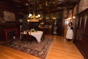 Have a sparkling holiday evening with a tour of the Moss Mansion