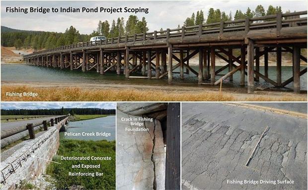 Yellowstone considers fishing bridge roadwork montana for Fishing bridge rv park yellowstone
