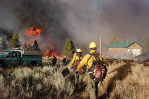Blaze burning through rural area outside of Butte