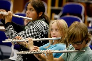30% of students in School District 2 participate in a music program