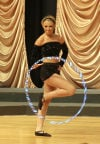 Katherine Sizemore performs a Hula Hoop Dance