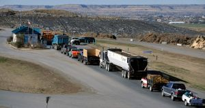 Hail damage repairs keep Billings landfill busy, but lines are getting shorter